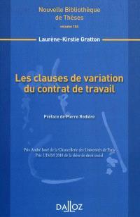 Les clauses de variation du contrat de travail
