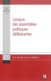 Lexique des assemblées politiques délibérantes