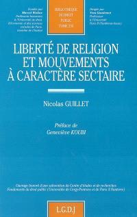 Liberté en religion et mouvements à caractère sectaire