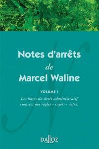 Notes de jurisprudence de M. Waline. Volume 1