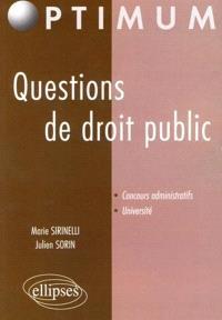 Questions de droit public