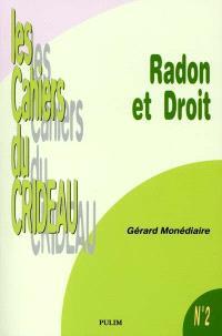 Radon et droit