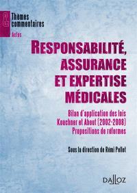 Responsabilités, assurance et expertise médicales : bilan d'application des lois Kouchner et About (2002-2008) : propositions de réforme