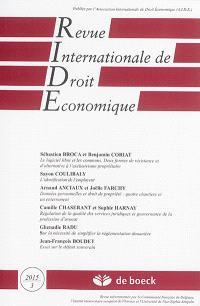 Revue internationale de droit économique. n° 3 (2015)