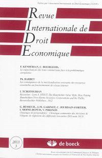 Revue internationale de droit économique. n° 3 (2013)