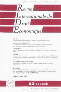 Revue internationale de droit économique. n° 4 (2014)