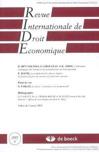 Revue internationale de droit économique. n° 4 (2005)