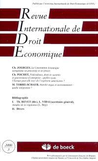 Revue internationale de droit économique. n° 3 (2006)