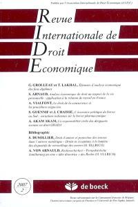 Revue internationale de droit économique. n° 2 (2007)
