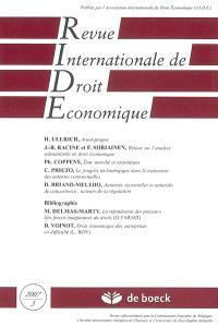 Revue internationale de droit économique. n° 3 (2007)