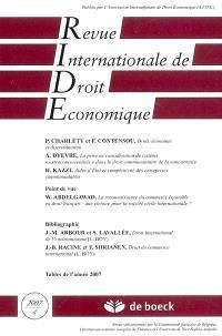 Revue internationale de droit économique. n° 4 (2007)