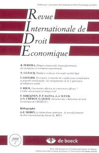 Revue internationale de droit économique. n° 1 (2008)