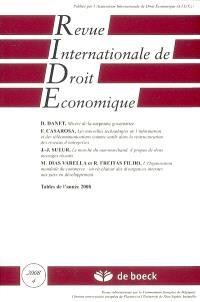 Revue internationale de droit économique. n° 4 (2008)