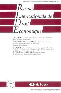 Revue internationale de droit économique. n° 1 (2009)