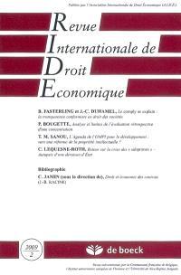 Revue internationale de droit économique. n° 2 (2009)