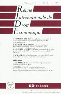 Revue internationale de droit économique. n° 3 (2009)
