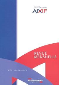 Revue mensuelle de l'Autorité des marchés financiers. n° 52
