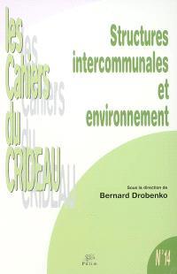 Structures intercommunales et environnement : colloque Tulle, 27 février 2003