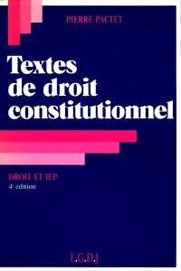 Textes de droit constitutionnel