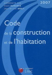 Code de la construction et de l'habitation 2007