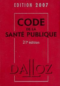 Code de la santé publique 2007