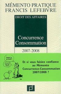 Concurrence consommation 2007-2008 : droit des affaires