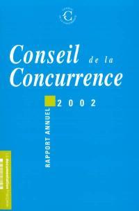 Conseil de la concurrence : seizième rapport annuel 2002