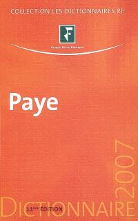 Dictionnaire paye 2007