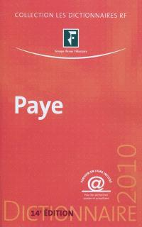 Dictionnaire paye 2010