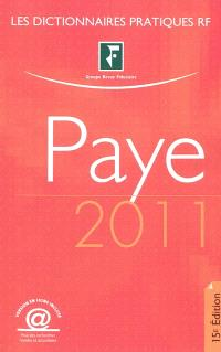 Dictionnaire paye 2011
