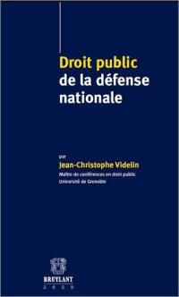 Droit public de la défense nationale