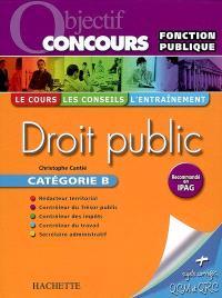 Droit public, catégorie B
