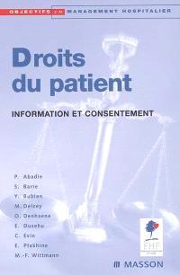 Droits du patient : information et consentement