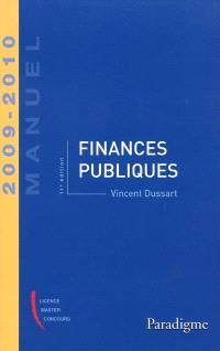 Finances publiques : 2009-2010