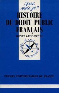 Histoire du droit public français : des origines à 1789