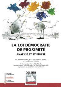 La loi Démocratie de proximité : analyse et synthèse