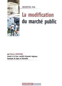 La modification du marché public