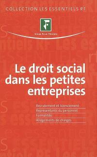 Le droit social dans les petites entreprises