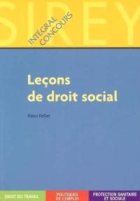 Leçons de droit social