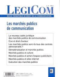 Légicom. n° 31, Les marchés publics de communication