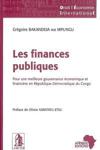 Les finances publiques : pour une meilleure gouvernance économique et financière en République démocratique du Congo