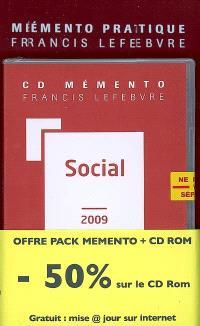 Pack social 2009 : mémento + CD-ROM + mise à jour gratuite sur Internet