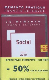 Pack social 2010 : mémento + CD-ROM + mise à jour Internet