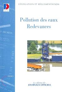 Pollution des eaux : redevances