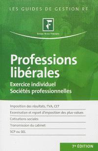 Professions libérales : exercice individuel, sociétés professionnelles : à jour au 31 décembre 2012