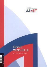 Revue mensuelle de l'Autorité des marchés financiers. n° 42