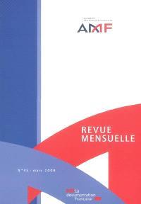 Revue mensuelle de l'Autorité des marchés financiers. n° 45
