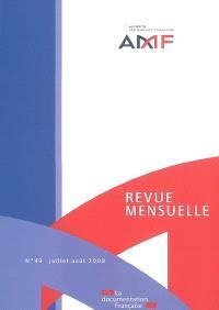 Revue mensuelle de l'Autorité des marchés financiers. n° 49