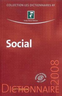 Social : dictionnaire 2008