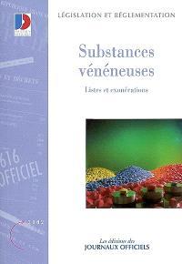 Substances vénéneuses destinées à la médecine humaine et vétérinaire : listes et exonérations, textes législatifs et réglementaires